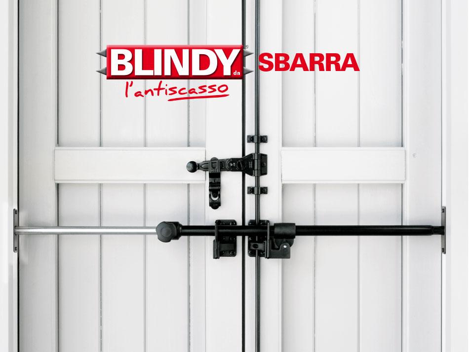 Blindy sbarra sicurezza per porte finestre scuri e persiane for Sbarre per porte
